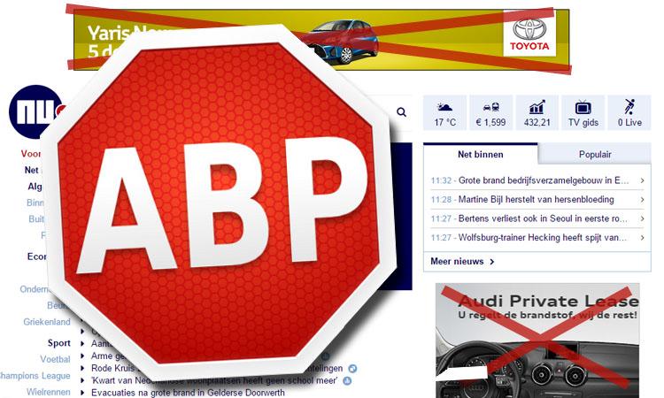 Hoe blokkeer je advertenties op een website