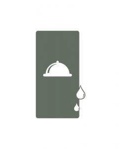 Waterbestendige ongevouwen menukaarten