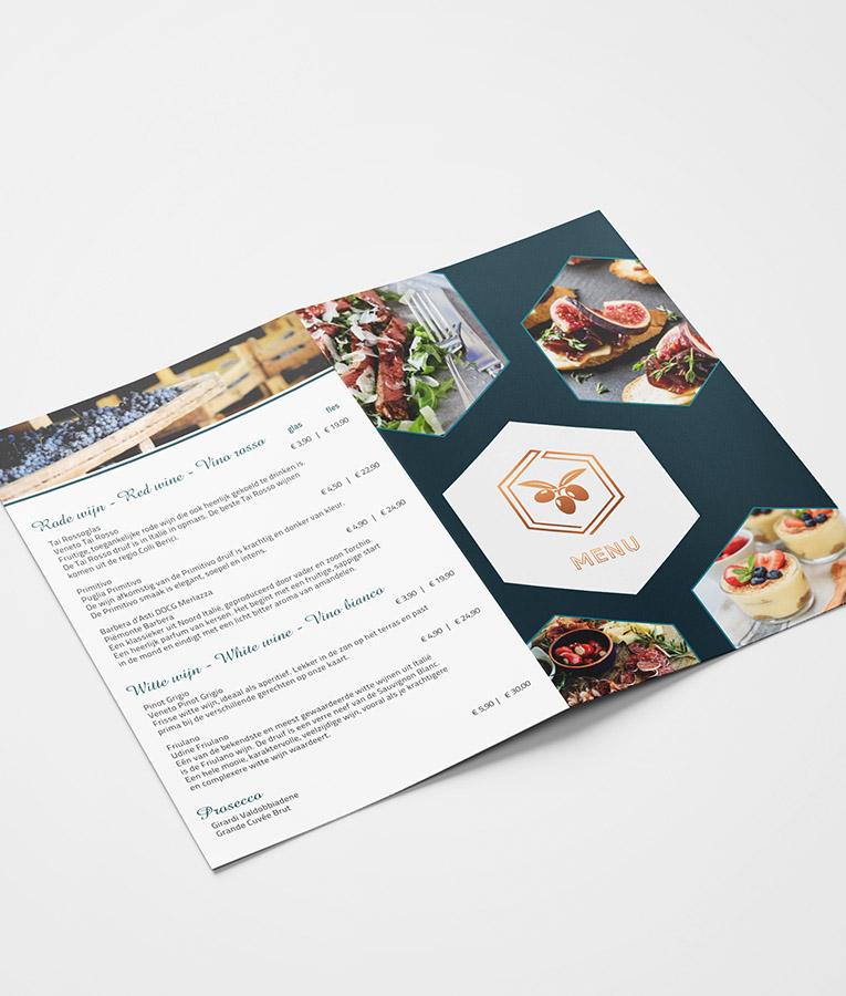 Gratis sample waterbestendige menukaart